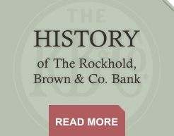 History of the Rockhold, Brown & Co. Bank